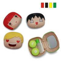 contact lens cleaner - Cartoon Contact Lens Case Fashion Contact Lens Cleaning Box Eyes Care Set