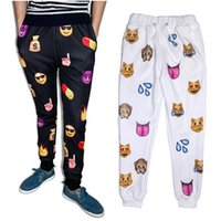 jogging pants - Newest Fashion Emoji Jogger Men Pants Sport Black Jogging Cartoon Pants Mens Harem Sweatpants Trousers