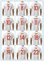 Fast Tailandia 2016 Rusia europea KOKORIN Arshavin Kerzhakov Dzagoev ZHIRKOV # 10 # 11 Dzagoev Cheryshev Red White Soccer Jersey jerseys ausentes