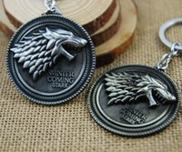 best crest - Game of Thrones Metal Keychains Stark family crests Pendant Key Chain Key Ring g Best Promotional Gifts Hot selling L277