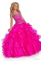 Cheap Pageant Dresses 062506 Best Fuchsia Flower Girl Pageant Dresses