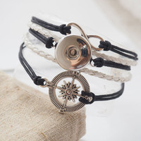 african jewlry - 9 Styles choose Infinity Compass Snap leather bracelet jewlry friendship Snap jewelry for gift customs diy making
