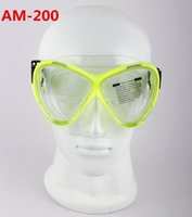 Wholesale Waterproof Adult Double Lens Silicone Swim Diving Mask