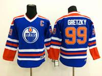 Wholesale Cheap Edmonton Throwback Hockey Jerseys Wayne Gretzky Jersey CCM Vintage Home Blue White Men s Wayne Gretzky Stitched Jersey