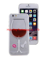 red red wine - Exclusive D Red Wine Cup Liquid Transparent Case Cover For Apple iPhone5 plus galaxy s5 note4 flowing wine Back Covers
