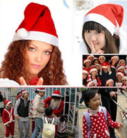 Wholesale Christmas Decoration Hats High grade Christmas Hat Santa Claus Hat Cute Children Kids Adults Non Woven X Mas Party Cosplay Hats JJD2006