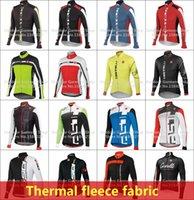al por mayor prendas de vestir de lana-2015 hombres de invierno jersey de ropa deportiva carrera de ciclo la ropa de ciclo térmico de lana chaqueta de ciclismo Ciclismo Ropa larga maillot ropa ciclismo bici