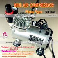 Mini Compressor de Ar Tattoo Air Brush Maquiagem Portátil 110V Bomba Oil-less pistão silenciosa prego spray Art Air Brush - FRETE GRÁTIS