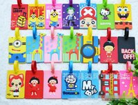 Wholesale Colorful Alife Basic Flight Travel Luggage Name Tag Cartoon Baggage Airplane Enamel PVC Silicone