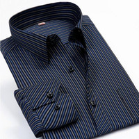 mens dress shirts - Fashion New Men Shirts Male Striped Formal Dress Shirt Long Sleeve Mens Brand Casual Shirts Plus Big Size XL XL XL XL