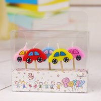 animal shaped candle - Birthday Cake Candle Car Animals Shaped Colorful Wax Candles Children Birthday Party Decoration S30258