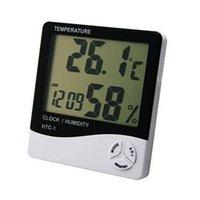 Wholesale Mini Digital LCD Temperature Humidity Meter Clock Indoor Hygrometer Thermometer