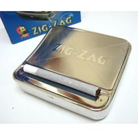 Wholesale Automatic Cigarette Tobacco Smoking Roll mm Metal Machine Roller Box ZIG ZAG