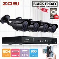Wholesale ZOSI TVL HDMI CCTV System CH H Realtime DVR x H CMOS IR Night Vision Outdoor Security Camera System GB HDD