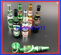 Wholesale SN High quality Creative Smoking Accessories Mini Smoke Pipe metal Pipe Smoking Pipe Small Popular Beer bottles pattern style mixed