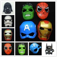 April Fool's Day adult captain america mask - Cartoon Film Mask Star War Mask Superhero Batman Spider Man Captain America Hulk Iron Man Avengers Mask Cosplay Costume