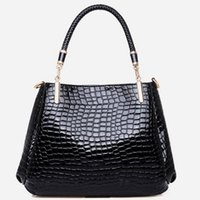 Wholesale 2015 New Fashion Women Pattern European and American Crocodile Pattern Handbag Shoulder Bag Messenger Bag Picture Buy one get one