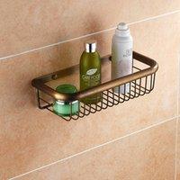 bath caddy - Deal Shower Caddy Bathroom Shelf Storage Wall Bath Organizer Rack Holder Towel Rack Antique Brass Finished