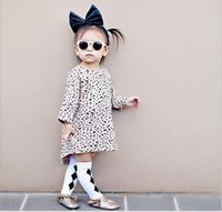 boat t shirts - Baby Girl Leopard T shirt Dress Autumn New Hot Sale Children Loose Dresses European American Style Girls Cotton Long T shirt Kids Dress