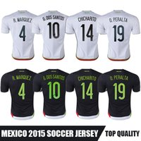 mexico - Whosales Camisa Mexico Soccer Jerseys Mexico Jersey Mexico CHICHARITO G DOS SANTOS Custom Football Shirt A Quality