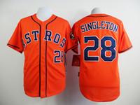 Football astros for sale - Astros Jon Singleton Orange Baseball Jerseys New Arrival Baseball Shirts Hot Sale Athletic Jerseys Discount Cheap Baseball Wear for Men