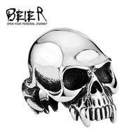 alchemy gothic skull - 2015 New arrival ALCHEMY GOTHIC New Designed Man s Vampire Skull Ring Super Quality BR8 US size