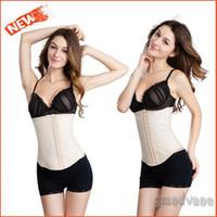 Cheap Wholesale-Hot Sale Women Waist Trainer Butt Lifter Shaper Slimming Belt Skin Latex Waist Cincher Corset 4 Steel Boned Corrective Underwear