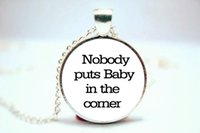 baby fonts - 10PCS Nobody Puts Baby In The Corner Large Font Necklace