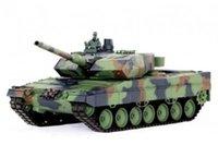 Wholesale Ghz German Leopard A6 RC Tank Upgrade Super Metal w Smoke Sound RTR
