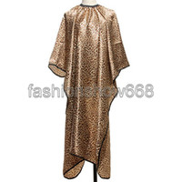 Wholesale Leopard Hair Cape Hairdressing Cut Salon Hairstylist Barber Gown Cloth Sleeve Wrap Styling Tools