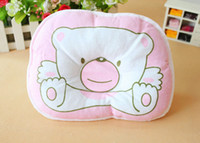 Wholesale 200 Hot selling Infant bedding print bear oval shape cotton baby shaping pillow high quality