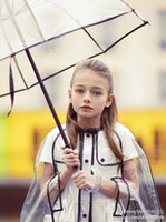 babies raincoat - Girls raincoats personality transparent raincoat for kid child raincoat family fashion hooded outdoor baby