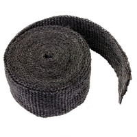 Wholesale 2x17inch Black Exhaust Manifold Header Downpipe Heat Wrap Front Pipe F cmx5m heat shield tape high quality