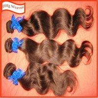 Diferentes colores teje el 100% barato de Malasia humana del pelo ondulado de 3 paquetes de 300g / porción teñidos tramas más hermosa 6A estilo perfecto