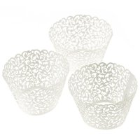 Wholesale Kimisohand Filigree Little Vine Lace Laser Cut Cupcake Wrapper Liner Baking Cup