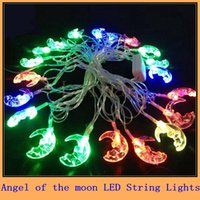 beautiful holiday homes - Beautiful AC110V V M Flashing angel of the moon LED String Lights for Christmas Holiday Wedding HOME Party Decoration