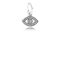 costume jewelry - 10pcs silver evil eye Symbol Of Insight Pendant charms beads fit European Bracelets for pandora style costume jewelry No50 LW529