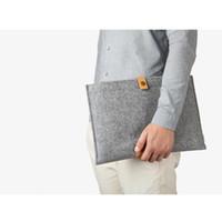 Wholesale Wool Felt ipad mini air ipad MacBook air pro Computer Bag Tablet PC Notebook Case Cover Laptop Handbag Sleeve Bag