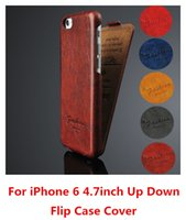 Wholesale Hot Vintage Handmade Leather Flip Hard Case Cover Skin For Apple iPhone quot