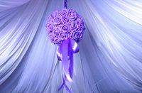 ball room dances - Wedding Decorations CM PE DIY simulation Rose ball flower Wedding Bouquet for Marriage room hanging