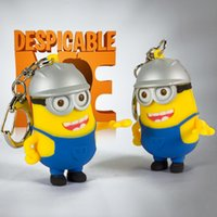Wholesale Cartoon Minions Keychain with LED and Sound Minions Toys Pegman Products for Kids Children Gifts Minions Kids Toys Superman