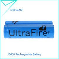 Wholesale Blue Newest Durable Rechargeable Battery v Ultrafire Battery mah for LED Flashlight Torch Light