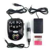 Wholesale 35000rpm Adjustable Speed Salon Manicure Machine Electric Nail Drill Art Pedicure Grooming Tools Polishing Grinding Foot Switch