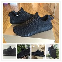 box light - YEEZY BOOST IS BACK IN BLACK Running Shoes Trainers Shoes With Box Sports Shoes Kanye West Yeezy Dropshipping Accepted