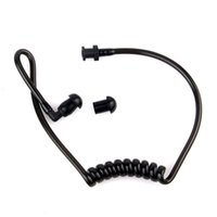 air acoustics - 2pcs Replacement Black Coil Acoustic Air Tube Earplug For Walkie Talkie Earpiece Black And White C2059