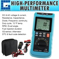Wholesale E04 Automotive Multimeter Scan Car Engine Analyzer RPM Voltage Current Dwell Angle