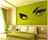 Wholesale Hepburn s eyes SEXY EYES Wall Stickers Living waterproof stickers