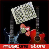 acoustic guitar music notes - Acoustic Electric Guitar Fretboard Note Music Sticker Stikers For Sale Decal Neck Fret Stiker On Guitarra with Free picks MU1288