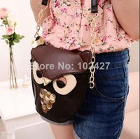 Wholesale Fashion Vintage Owl Satchel Messenger Womens Shoulder Bag Girls Handbag CrossBody Purse