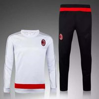 ac collars - 2016 new ac MILAN soccer tracksuit MILAN survetement chandal top quality training football sweatershirt and pants